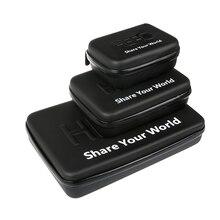 עבור GoPro אבזר נשיאה עמיד למים מקרה מגן אחסון תיק לgo Pro 9 4 5 6 7 8 יי 4K Eken H9 Sjcam Sj7 פעולה מצלמה