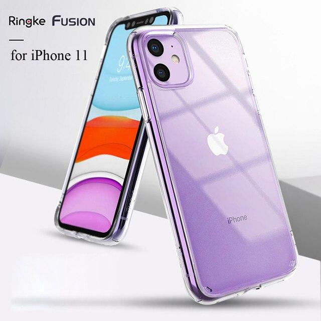 Ringke funda Fusion para iPhone 11, carcasa trasera de PC transparente y Marco suave de TPU, híbrida, militar, probada para nueva carcasa de iPhone