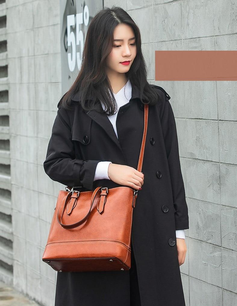 Bolsa de couro genuíno bolsa feminina de