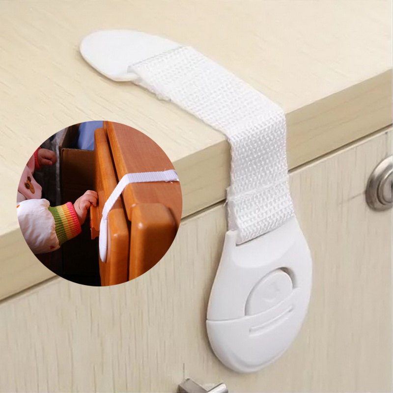 New 1pcs Multi-function Plastic Cabinet Locks Children Safty Lock Protection Cabinet Cupboard For Refrigerator Cabinet Door