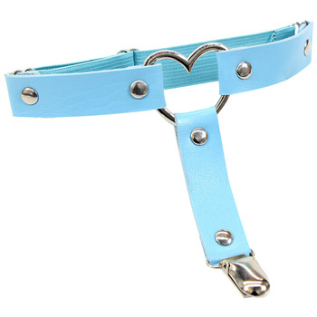 Women Punk Heart Sexy PU Leather Garter Belt Harajuku Elasticity Body Harness Tight Suspender Strap Leg Harness Bondage Belts 20
