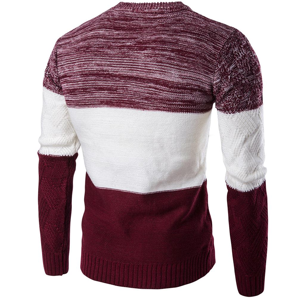 Korea  Sweaters  Pullovers Men Long Sleeve Knitted Sweater
