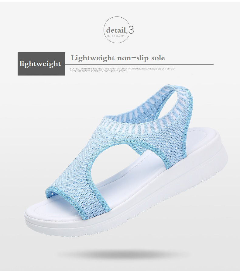 H01bea1ef4d5d41d2b2bee067ee65a158H WDZKN 2019 Sandals Women Summer Shoes Peep Toe Casual Flat Sandals Ladies Breathable Air Mesh Women Platform Sandals Sandalias