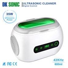 Nettoyeur ultrasonique à commande numérique de 600ml, bain à ultrasons domestique pour bijoux, chaînes de montre, lunettes