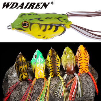 1PC simulation Soft Frog Fishing Lures Double Hooks 6g 9g 12g Topwater Ray Frog Artificial Minnow Crank Soft Bait fishing tackle 1pcs wholesale bionic sea fishing frog soft bait fishing bait 12g 6cm artificial 3d eyes crank sink rotate fishing soft bait