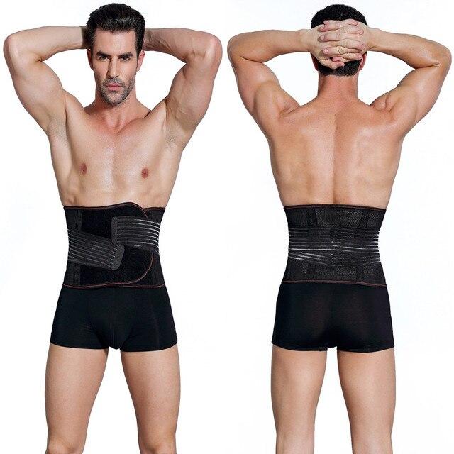 Men's Slimming Belt Body Shapers Belt Compression Corset Fitness Girdles Waist Cincher Trainer Trimmer Abdomen Fat Burning Tummy