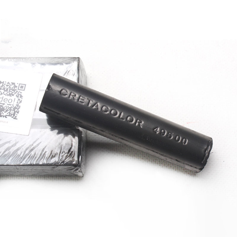 Imported Austrian CRETACOLOR Stubby Black Carbon Rod Sketch Soft Pure White Charcoal Hard Pencil