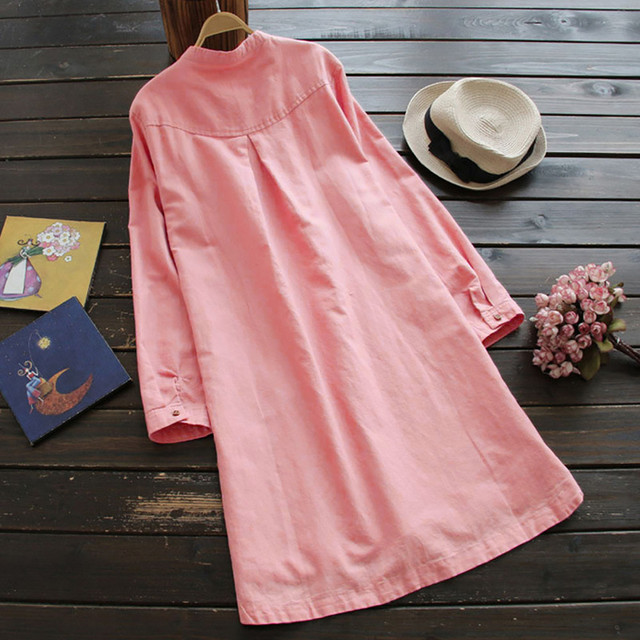 Nice  casual long Shirt dress, goes with anything 3