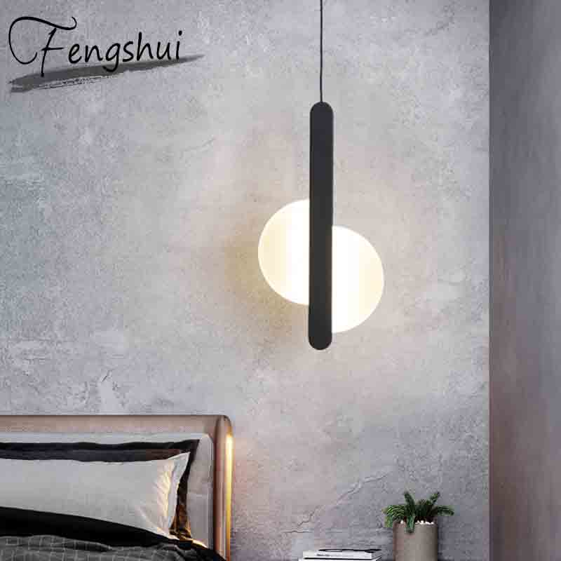 Nordic Modern Iron PVC LED Pendant Lights Lighting Home Decor Pendant Lamp Dining Living Room Bedroom Bedside Hanging Lamp