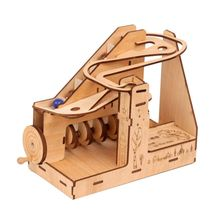 3D Marble Run Game DIY Wooden Model Building Kits Assembly T