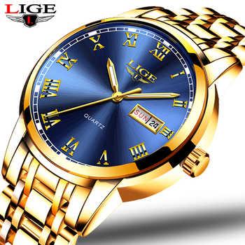 Montre Homme Montre hommes de luxe marque LIGE chronographe hommes Sport Montre étanche en acier Quartz hommes montres Relogio Masculino
