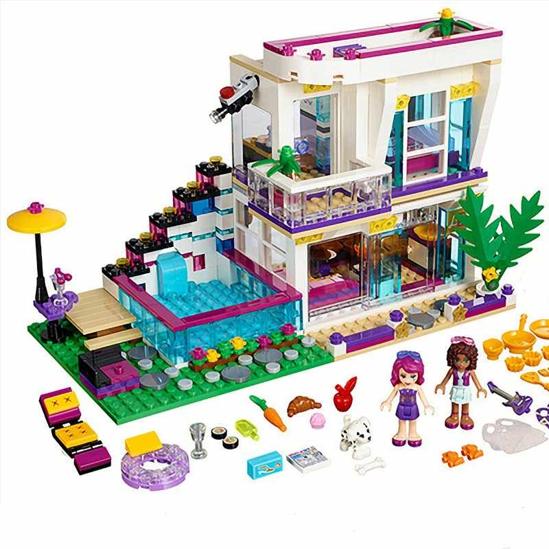 760PCS Pop Star Livi's House Building Block Compatible with Legoinglys Friends For Girls DIY figures Bricks Toys for childre