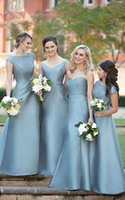 2019 New Light Blue Bridesmaid Dresses Formal Wedding Party Elegant A variety of styles Satin Bridesmaid Dress vestidos de festa