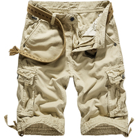 Military Men Casual Shorts Cotton Summer Loose Straight Cargo Shorts Men Plus Size Tactical Roupas Men Korean Clothing XX60MS