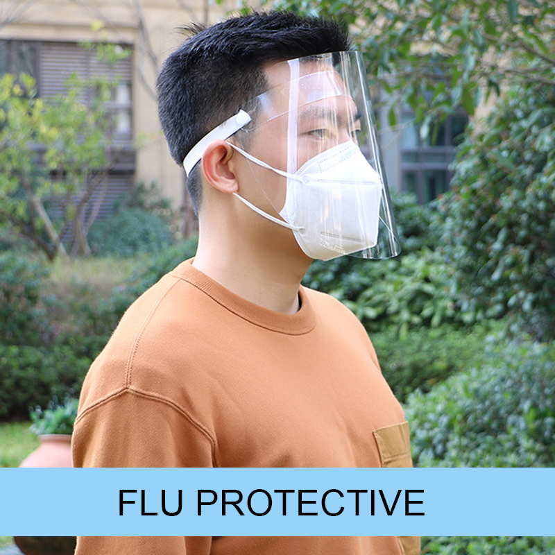 Creative Protective Face Shield Transparent Anti Droplet Dust-proof Protect Full Face Covering Mask  Safe Virus Protection Mask 4