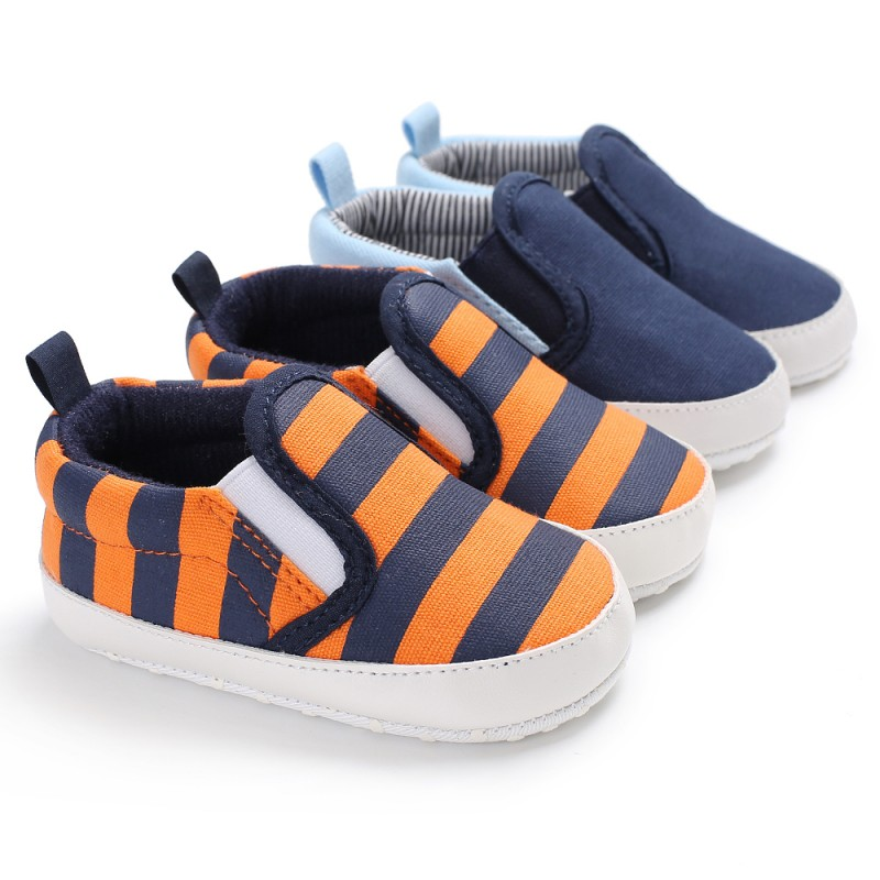 Fashion Canvas Striped Soft Soled Babe Loafer Sneakers Kids Boys Infant Toddler First Walkers Newborn Baby Shoes12