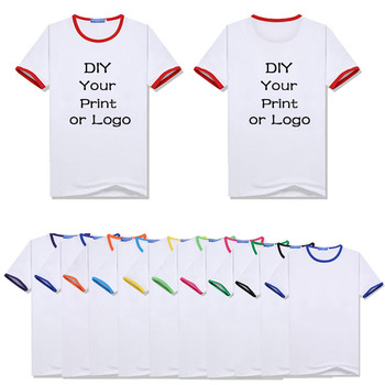 Customized Print T Shirt Men's DIY Your Like Photo or Logo Women's and Kid's White Top Tees Size S-4XL Modal T Shirt image
