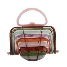 Новинка весна лето креативная акриловая сумка ручной работы