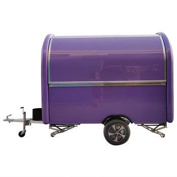 custom blue food truck mobile food trailer Purple Mobile Food Trailer Food Truck Catering Van