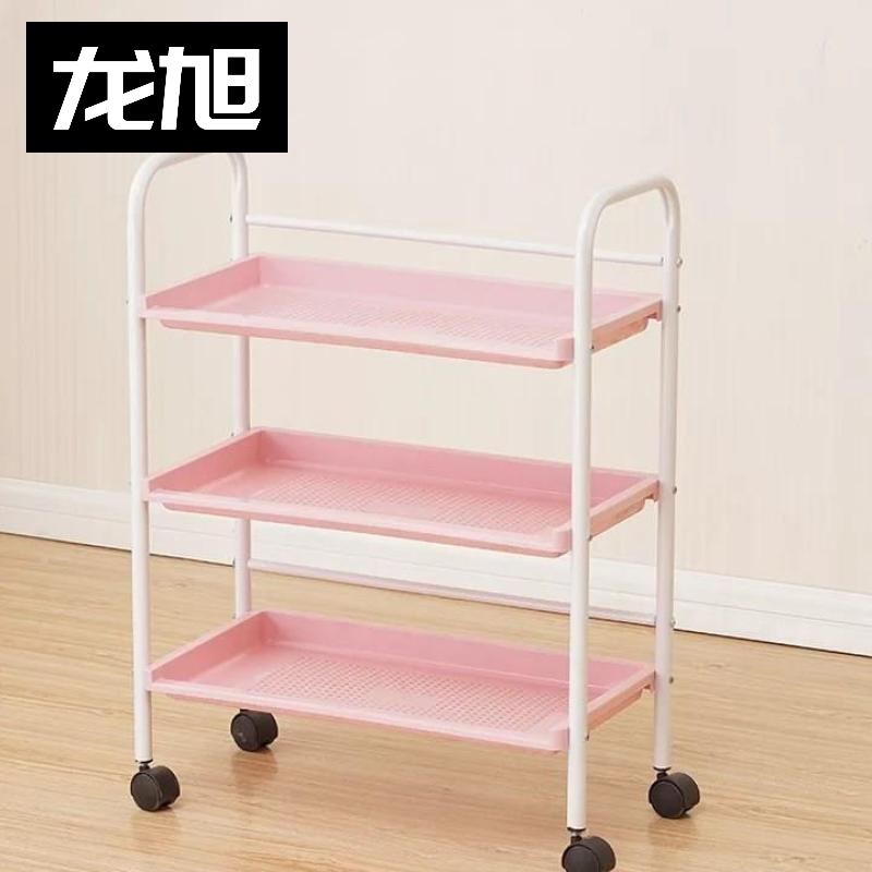 Pink Beauty Barber Shop Cabinet Cart Tray Push Hairdresser Trolley Friseurwagen Carros De Peluqueria Carrello Attrezzi Cheap