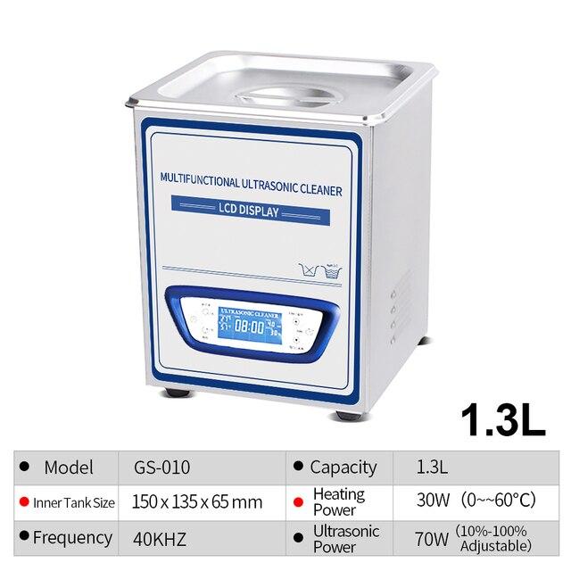 YULU 1.3L Ultraschall Reiniger Sweep Frequenz Degass ultraschall waschen gläser uhr rasiermesser schmuck reinigung mit lcd bildschirm