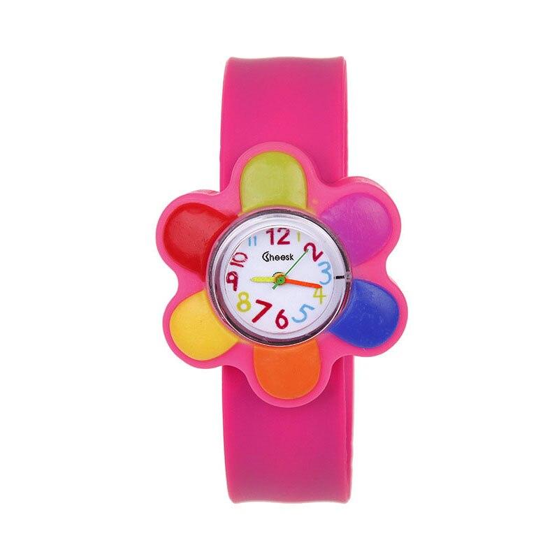 Newly 1 Pcs Children Kids Wrist Quartz Watch Silicone Strap Cute Cartoon Style Fashion Birthday Gift FIF66