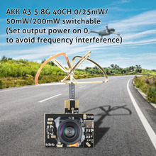 AKK A3 Mini 5.8Ghz 0/25MW/50MW/200MW FPV verici mikro AIO kamera