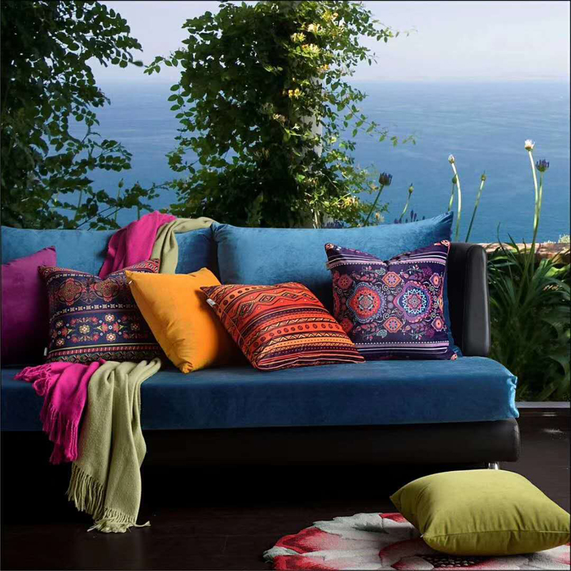 Home Decorative Velvet Throw Cushion Cover Living Room Sofa Car Almofada Zara women Bohemian Style Pillowcases Geometric in Cushion Cover from Home Garden