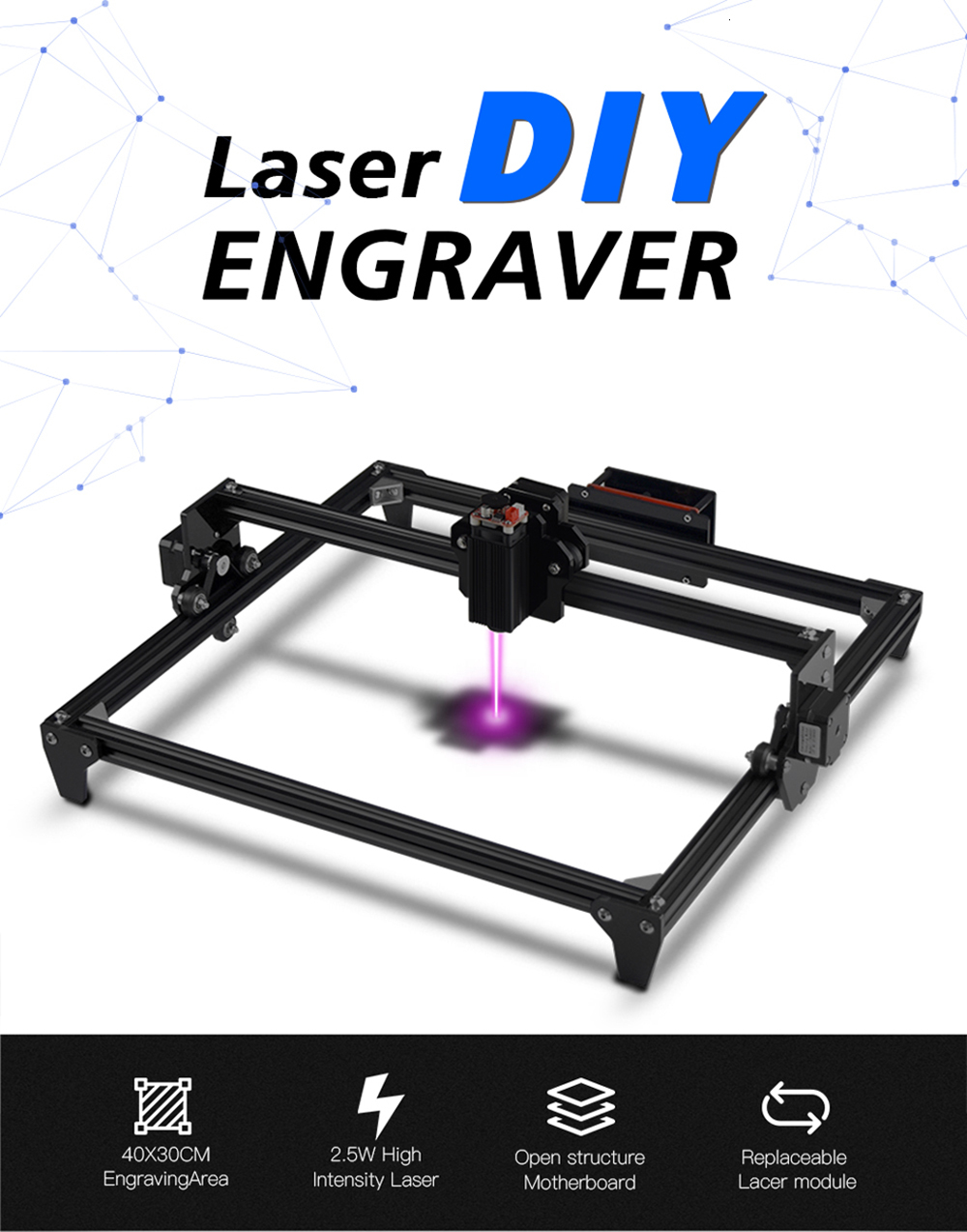 30x40cm 2-Axis CNC Laser Engraving Machine/Wood Router 8