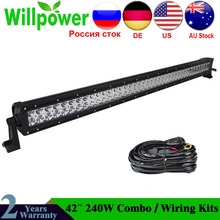 FREE Shipping Combo Beam 12 volt 240w 42in LED Light Bar 4x4 High Power For JEEP Offroad Boat