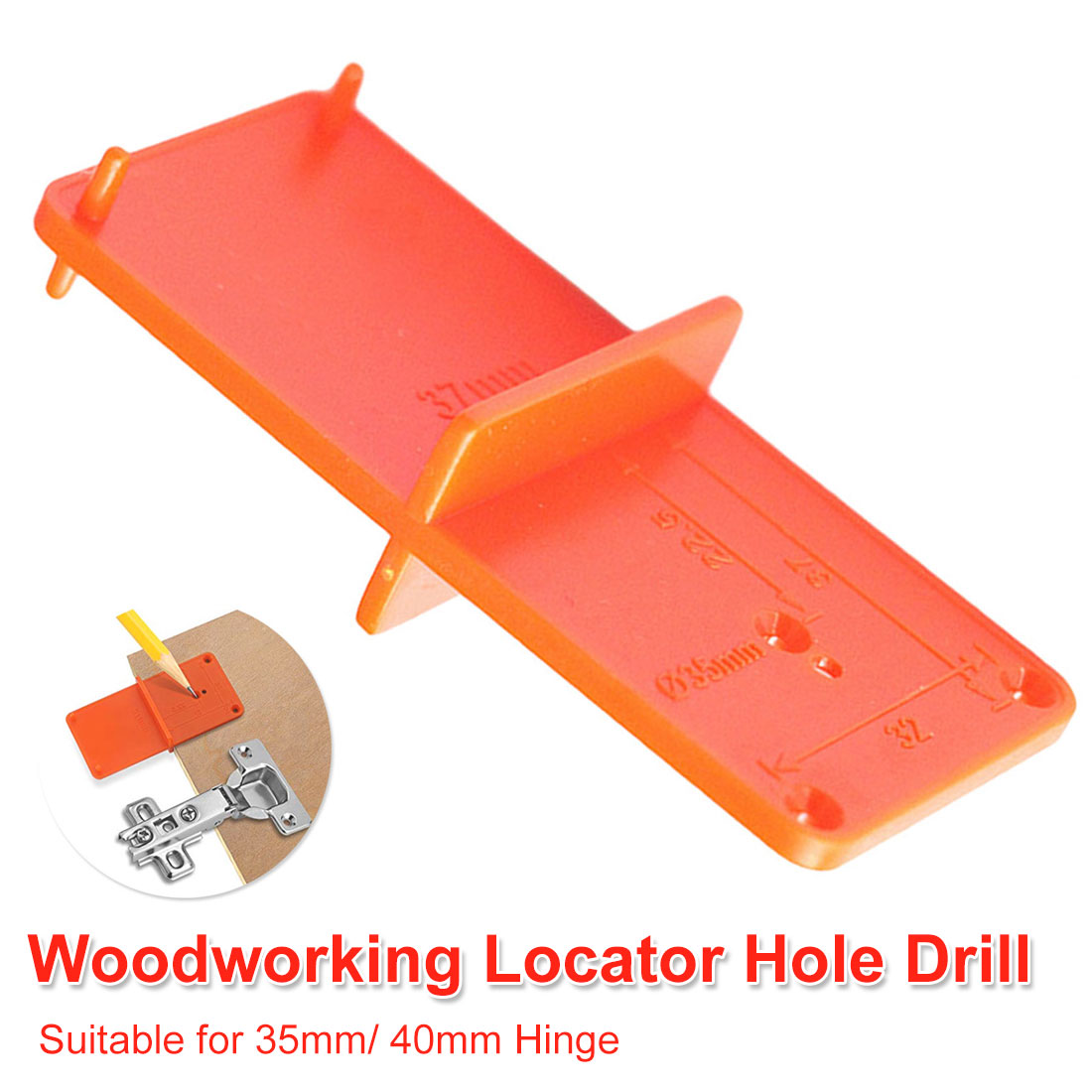 Hole Drilling Guide Locator Suit 35mm/ 40mm Hinge Hole Opener Template Door Cabinets DIY Tool For Woodworking Tool