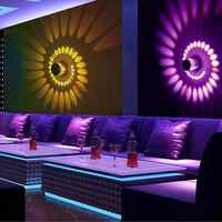 RGB Spiral Hole LED Wall Light Effect Wall Lamp With Remote Controller Colorful For Party Bar Lobby KTV Home Decoration