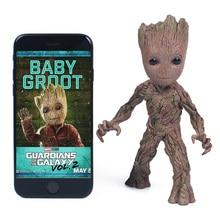 цена на Baby Groot Tree Man Model PVC Marvel Guardians The Galaxy Avengers Figurine Desk Decoration Kids Toy Christmas Gift Home Decor