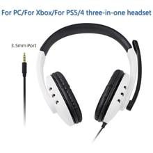 Auriculares blancos para juegos de PC/PS5/PS4, con micrófono, cancelación de ruido, orejeras suaves, para videojuegos para niños y niñas
