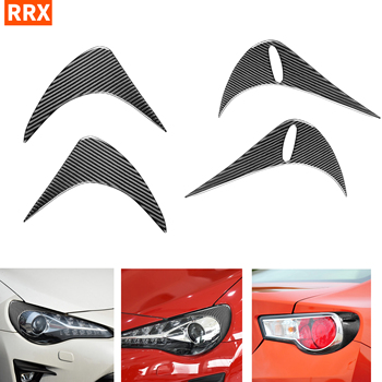 For Toyota GT86 Subaru BRZ 2012-2016 Carbon Rear/Front Headlights Eyebrows Eye Lids Cover Headlamp Refit Sticker Car Accessories image