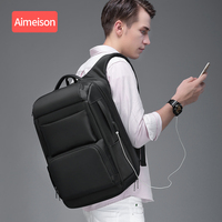 Aimeison Laptop Backpack For Men Water Repellent Functional Rucksack with USB Charging Port Travel Backpacks Male