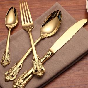 24Pcs/set Tableware gold Titan
