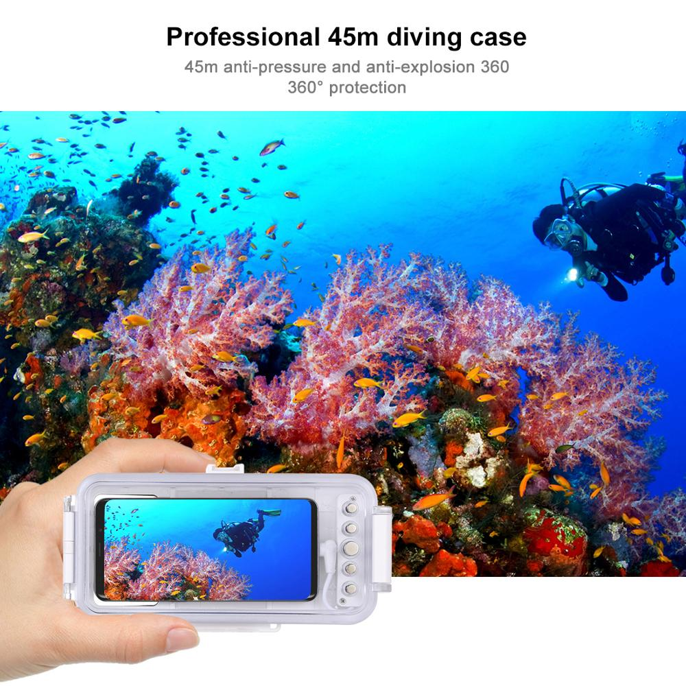 45M Waterdichte Duiken Behuizing Universele voor Android Samsung Xiaomi Huawei Oneplus Stofdicht Schokbestendig Zwemmen Telefoon Cover - 6