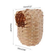Натуральный Бамбуковый Птичий дом ручной работы Финч укрытие клетка игрушка уличная хижина укрытие GXMA