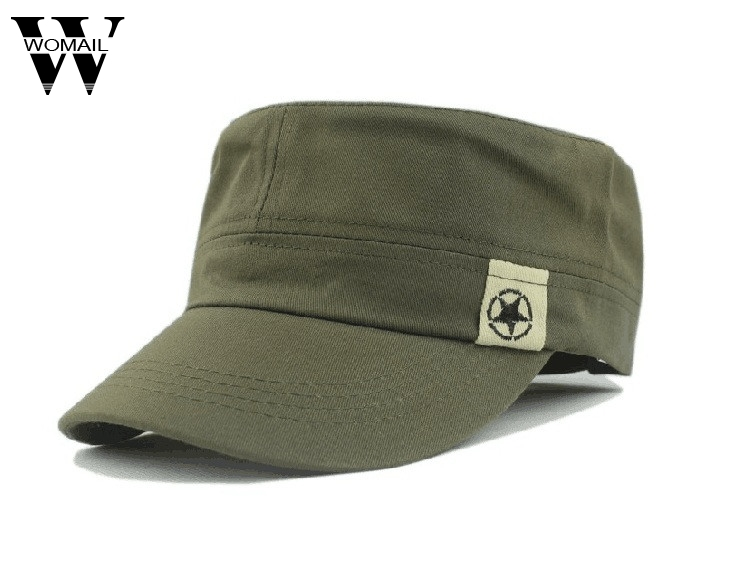 Classic Army Combat Plain Hat Cadet Military Baseball Outdoor Patrol Travel Cap