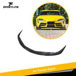 Carbon Fiber Front Bumper Lip Spoiler Splitters Bumper Guard for Toyota Supra 2019 2020 Front Bumper Lip Spoiler
