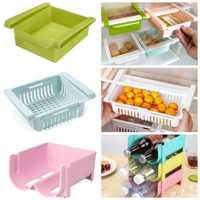 Slide Kitchen Fridge Freezer Space Saver Organizer Storage Box Rack Shelf Holder Refrigerator Shelf Dropshipping