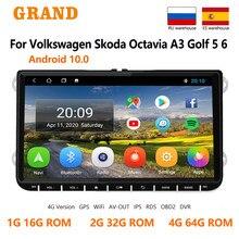 GRAND 2din Android Für Volkswagen VW Polo Jetta Skoda Octavia 2 Golf 5 7 Touran Auto Radio Multimedia Player GPS navigation 2 Din