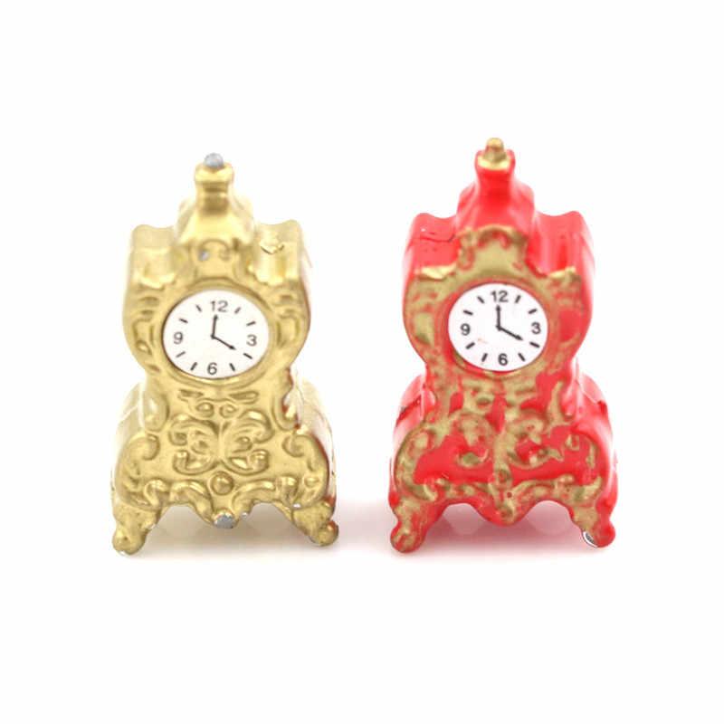 Dapur Ruang Tamu Aksesoris 1:12 Skala Jam Alarm Mini Home Dekorasi Rumah Boneka Miniatur Mainan Boneka Yang Indah