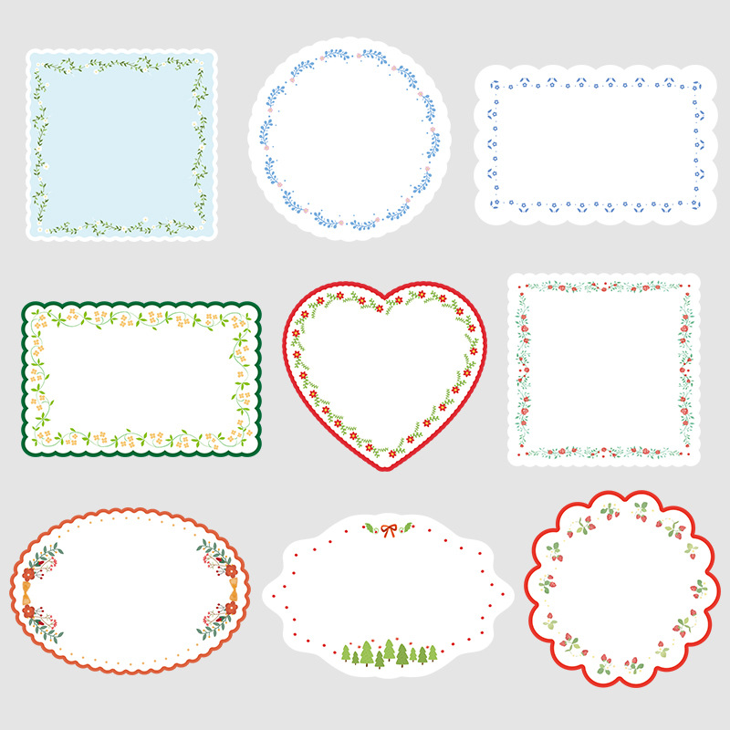 20 Pcs Vintage Strawberry Garden Sticky Notes Memo Pad Diary Stationary Flakes Scrapbook Decorative Cute Flowers N Times Sticky