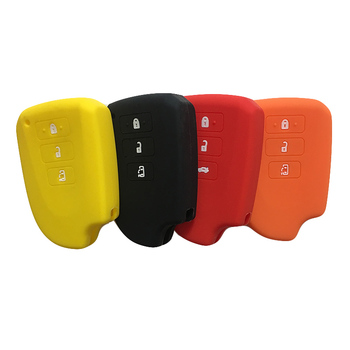 Case Spade Protect Shell Key Cover Silicone Rubber for Toyota Highlander Smart Sienta MPV Spade Hiace 200 Series Key Cover Fob