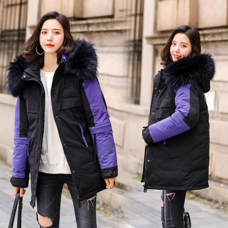 Korean Women Parka Mujer 2019 Winter Parkas Women  Fur Collar Parka Outwear Jacket Coat Femme 5XL Pluse Size Coats For Women