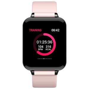 Image 2 - 여자 스마트 워치 컬러 스크린 IP67 아이폰에 대 한 방수 Smartwatch 심장 박동 모니터 혈압 기능 스포츠 시계