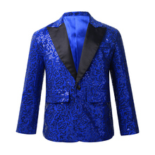 Costume Blazer Boys Jacket Suit Tuxedo One-Button-Suit Wedding Party Kids for Banquet
