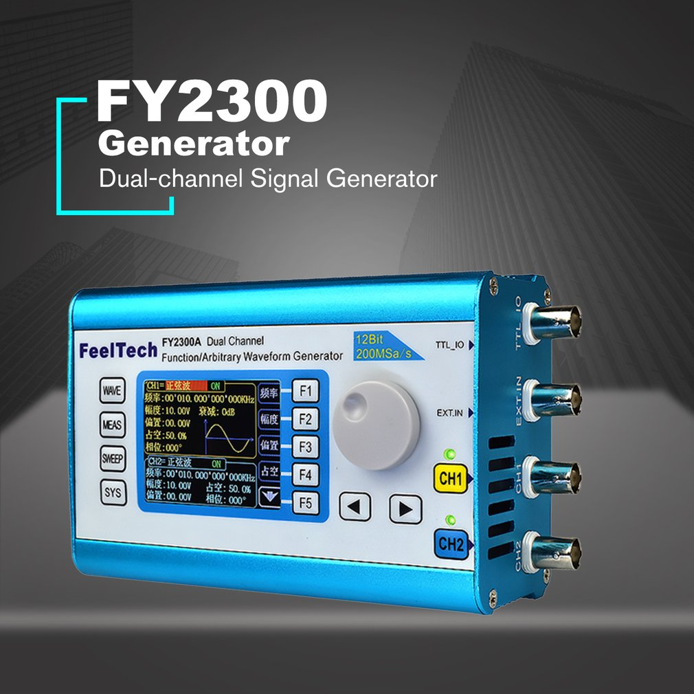 Digital DDS Dual-channel Signal Generator Arbitrary Waveform Function 200MSa/s 12MHz Frequency Meter